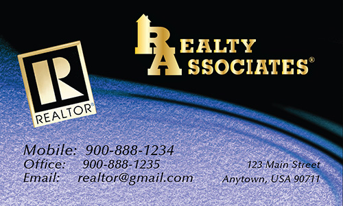 Blue Realty Associates Business Card - Design #109043