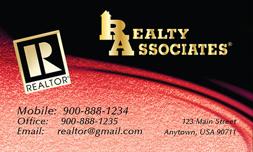 Red Realty Associates Business Card - Design #109044