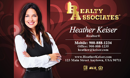Red Realty Associates Business Card - Design #109071