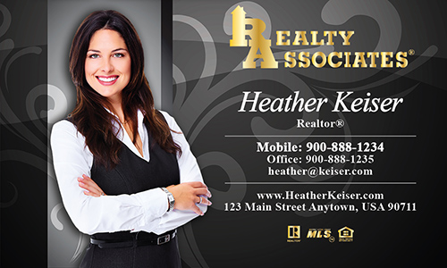 Gray Realty Associates Business Card - Design #109072