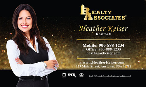 Black Realty Associates Business Card - Design #109082
