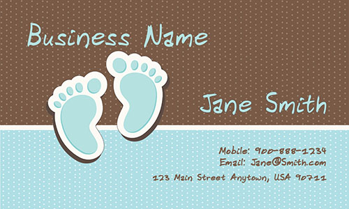 Colorful Babysitting Business Cards - Design #1101031