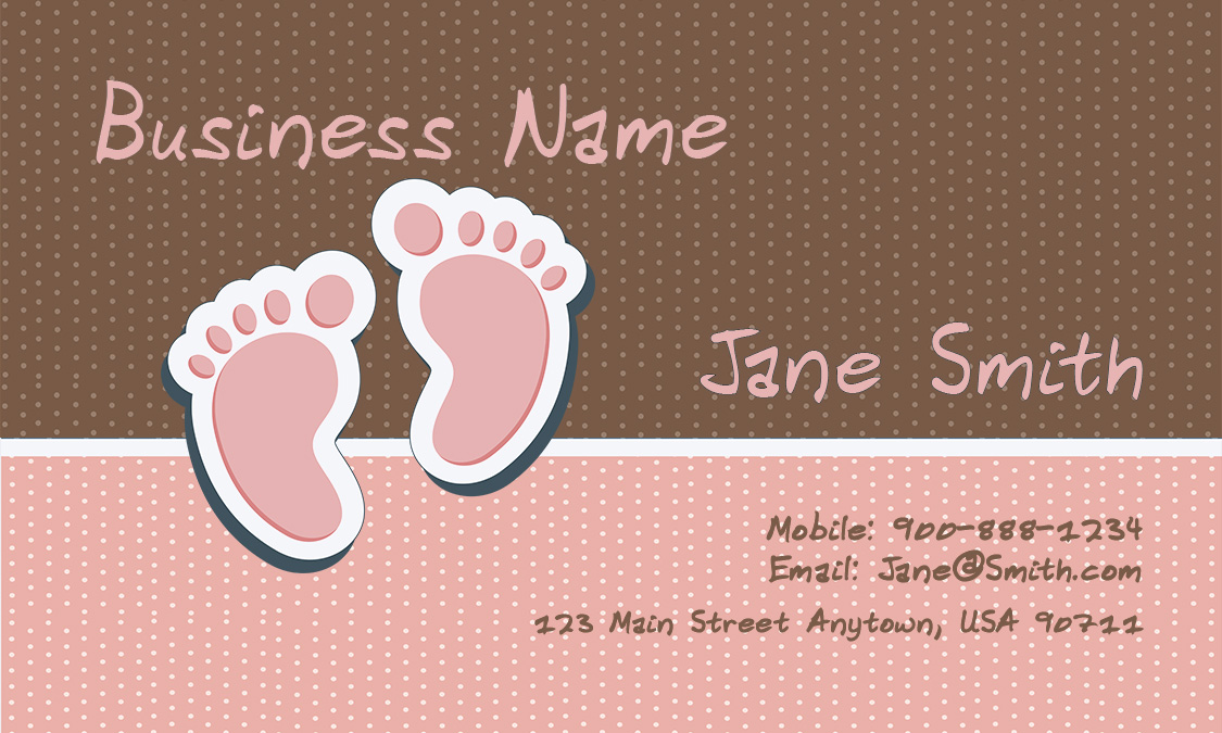 Child care business cards babysitting templates babysitting fbccfo Gallery