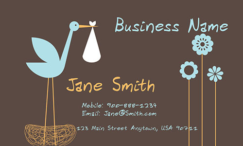 Cheerful Babysitter Business Card - Design #1101061