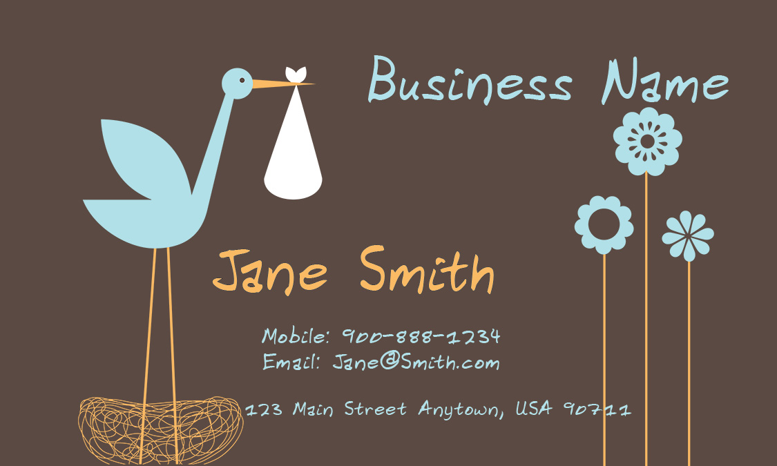 Cheerful babysitter business card design 1101061 colourmoves