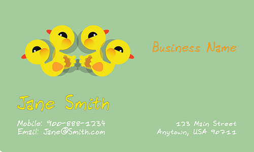 Adorable babysitter business card design 1101071 colourmoves