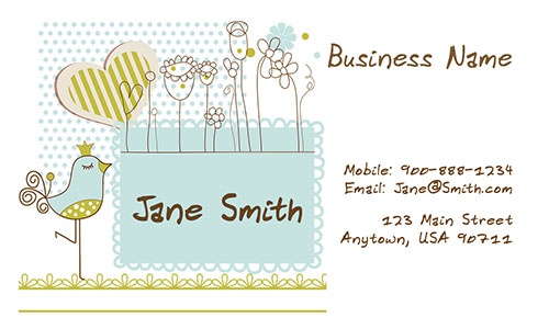 Preschool Business Card - Design #1101091