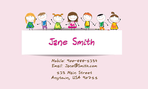 Preschool Teacher Business Card - Design #1101101