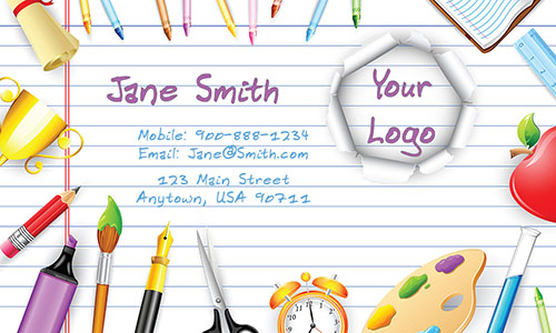 Art Teacher Business Cards - Design #1101111