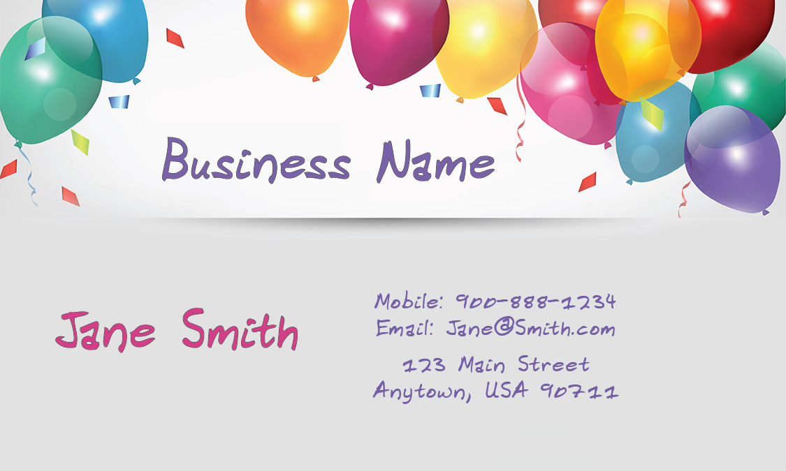 Fun babysitter business card design 1101121 colourmoves