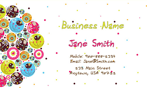 Child care business cards babysitting templates childcare business card design 1101131 wajeb Image collections