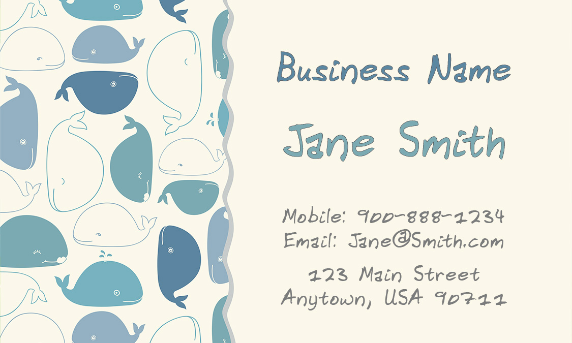 Babysitting business card design 1101151 colourmoves