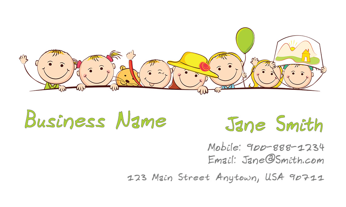 Child Care Business Cards Babysitting Templates