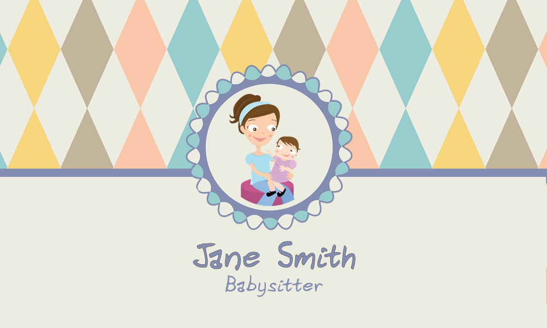 Blue babysitting business card design 1101181 colourmoves