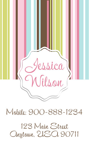 White Babysitting Business Card - Design #1101191