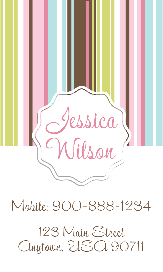 Babysitting Business Card Design 1101191