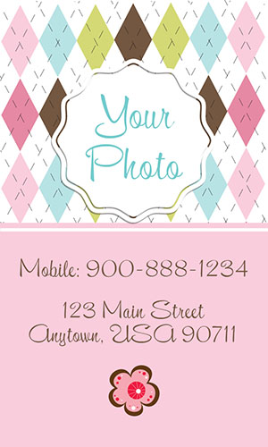Pink Babysitting Business Card - Design #1101202