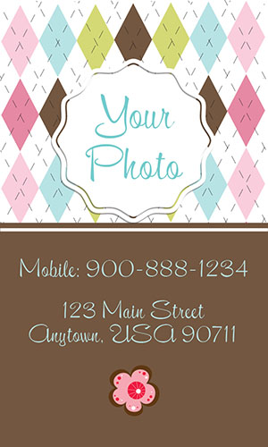 Brown Babysitting Business Card - Design #1101203
