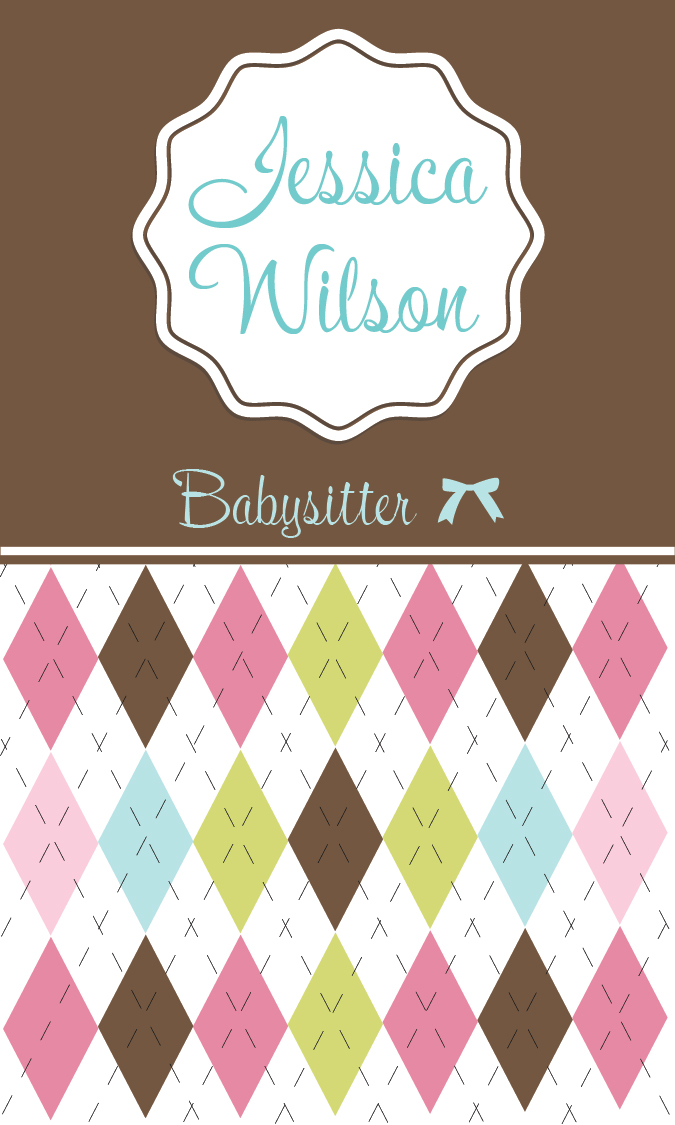 Babysitting Business Cards Free Templates