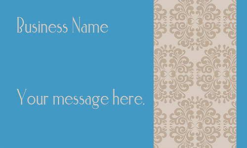 Blue with Patterns Calling Business Card - Design #1201011