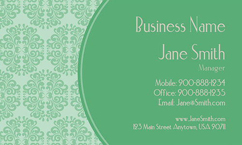 Green Personal Business Card - Design #1201013