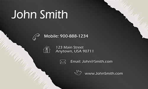 Gray Personal Business Card - Design #1201051