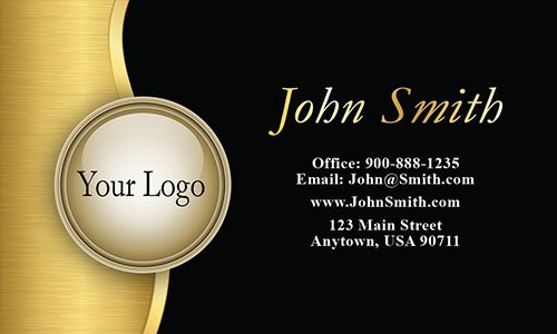 Black Personal Business Card - Design #1201061
