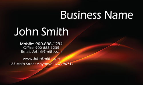 Black Personal Business Card - Design #1201081