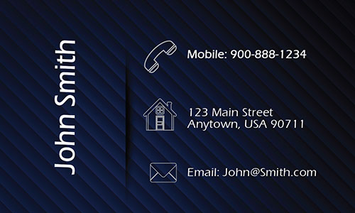 Blue Personal Business Card - Design #1201093