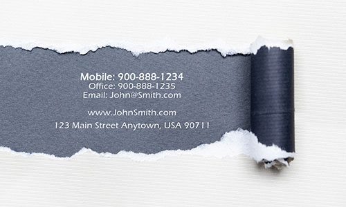 Gray Personal Business Card - Design #1201101