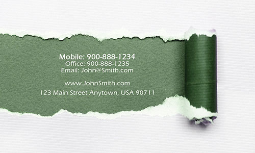 Green Personal Business Card - Design #1201102