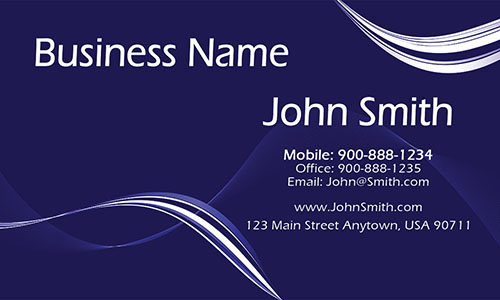 Blue Personal Business Card - Design #1201112