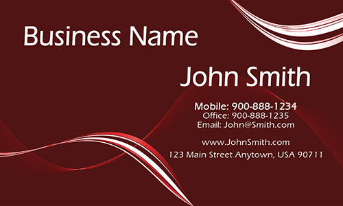 Red Personal Business Card - Design #1201113