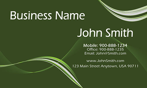 Green Personal Business Card - Design #1201114
