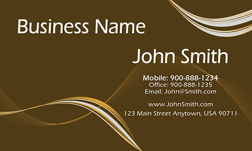 Yellow Personal Business Card - Design #1201116