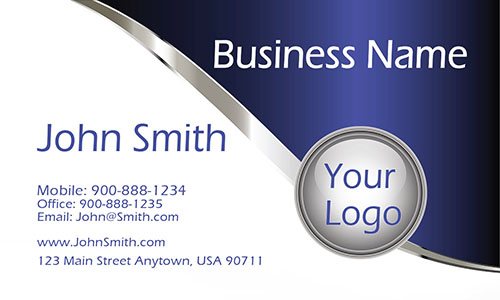Blue Personal Business Card - Design #1201141