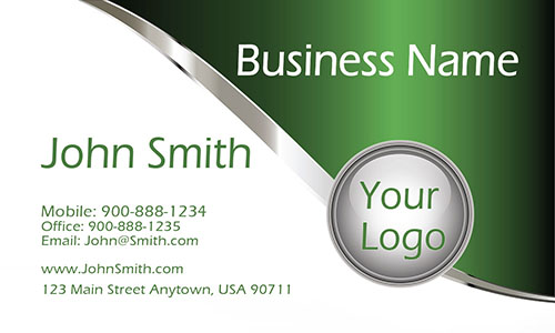 Green Personal Business Card - Design #1201142