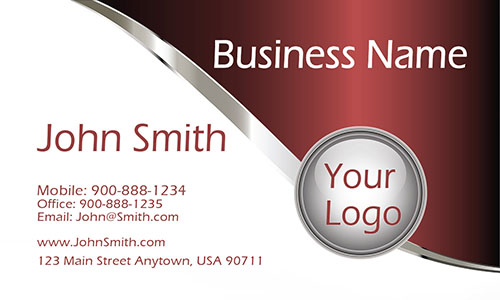 Red Personal Business Card - Design #1201143