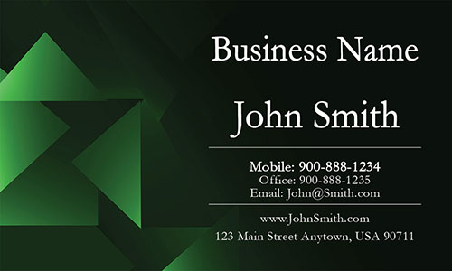 Green Personal Business Card - Design #1201152