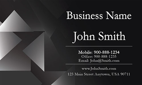 Black Personal Business Card - Design #1201154
