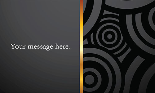 Black Personal Business Card - Design #1201161