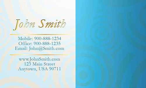 Blue Personal Business Card - Design #1201171