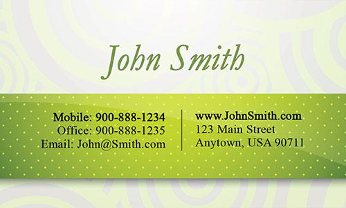 Green Personal Business Card - Design #1201181