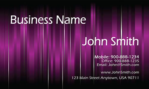 Purple Personal Business Card - Design #1201191