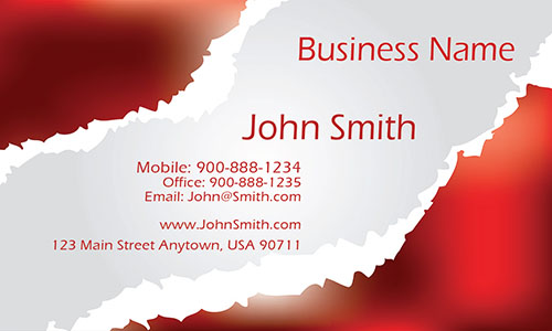 Red Personal Business Card - Design #1201201