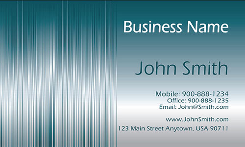 Blue Personal Business Card - Design #1201221
