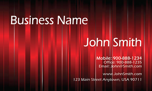 Red Personal Business Card - Design #1201231