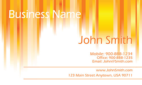 Yellow Personal Business Card - Design #1201241