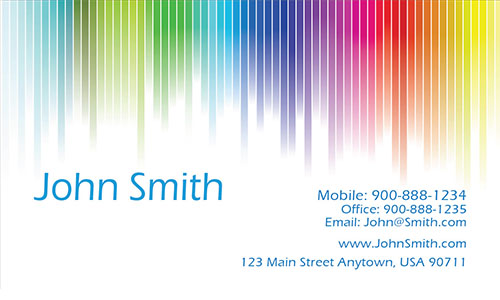 White Personal Business Card - Design #1201251