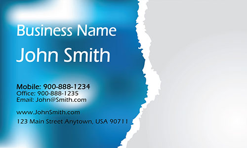 Blue Personal Business Card - Design #1201261